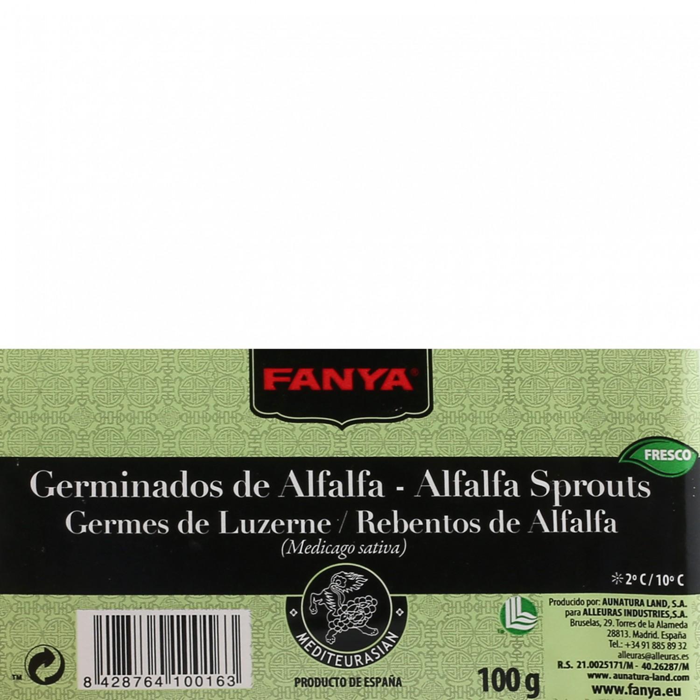 Brotes de alfalfa Fanya bandeja 100 g - 3