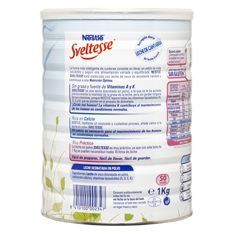 Leche en polvo desnatada Nestlé - Sveltesse 1 kg. -