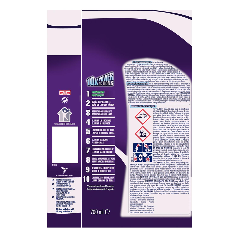 Limpiador de baño con lejía Power Gel Cillit Bang 700 ml. -
