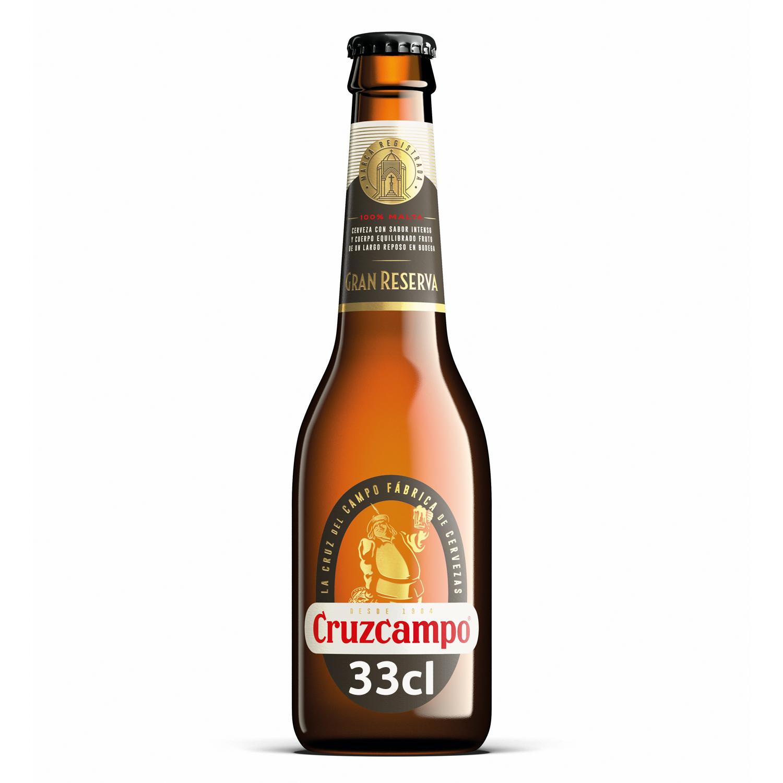 Cerveza Cruzcampo Gran Reserva malta botella 33 cl.