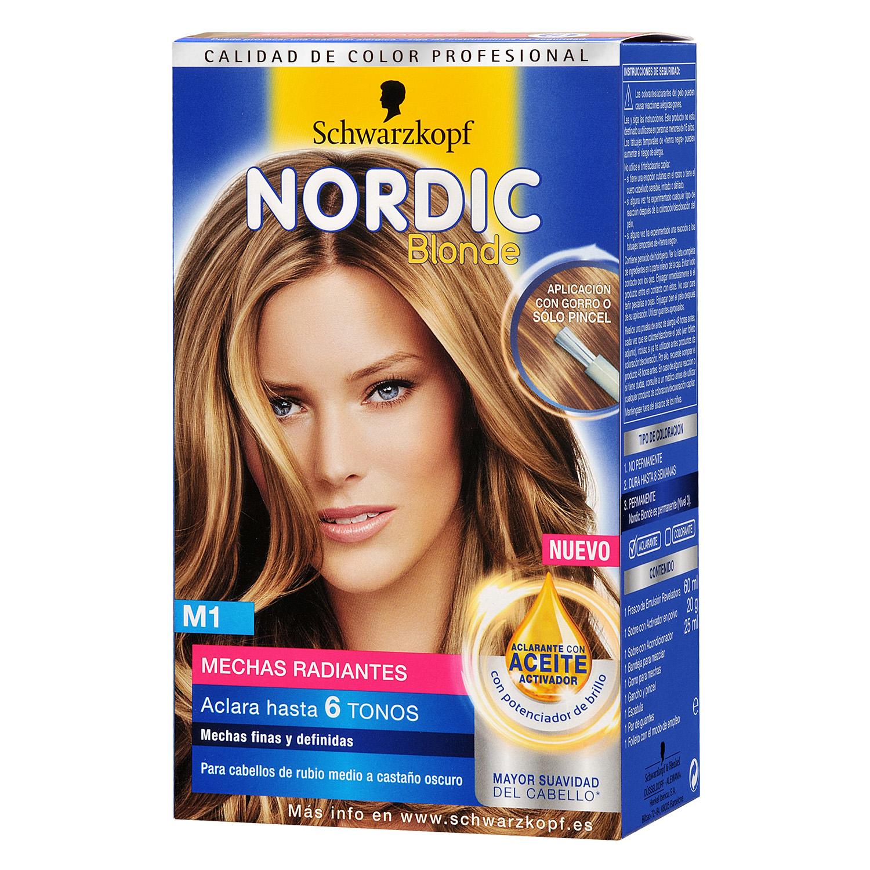 Mechas radiantes rubias M1 ultra Nordic Colors 1 ud.