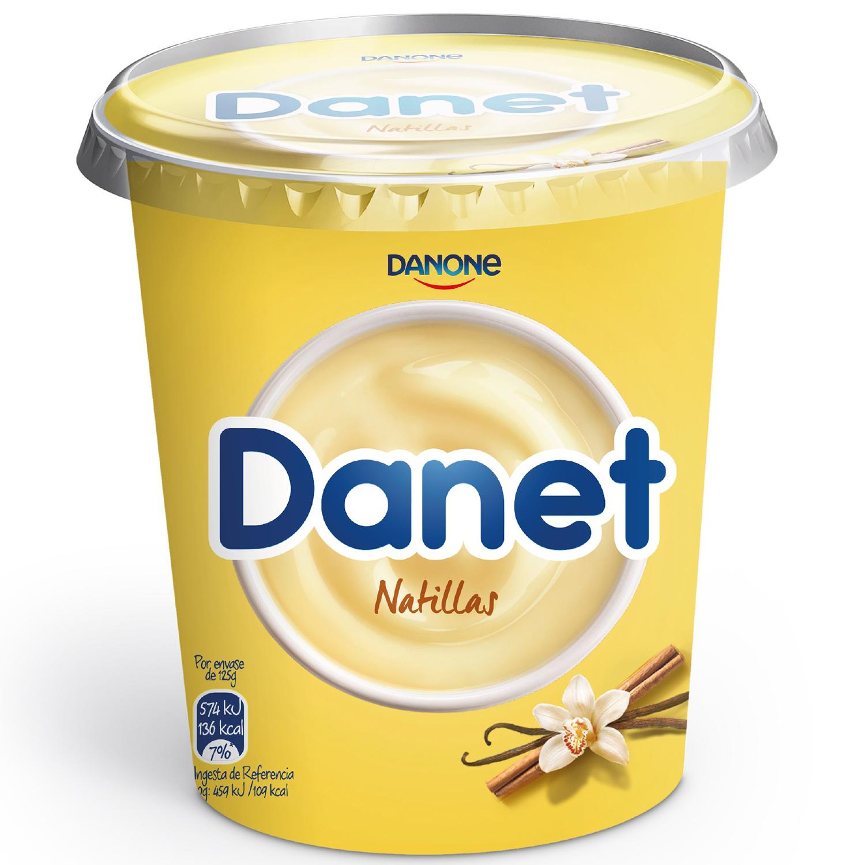 Natillas de vainilla Danone Danet 400 g.