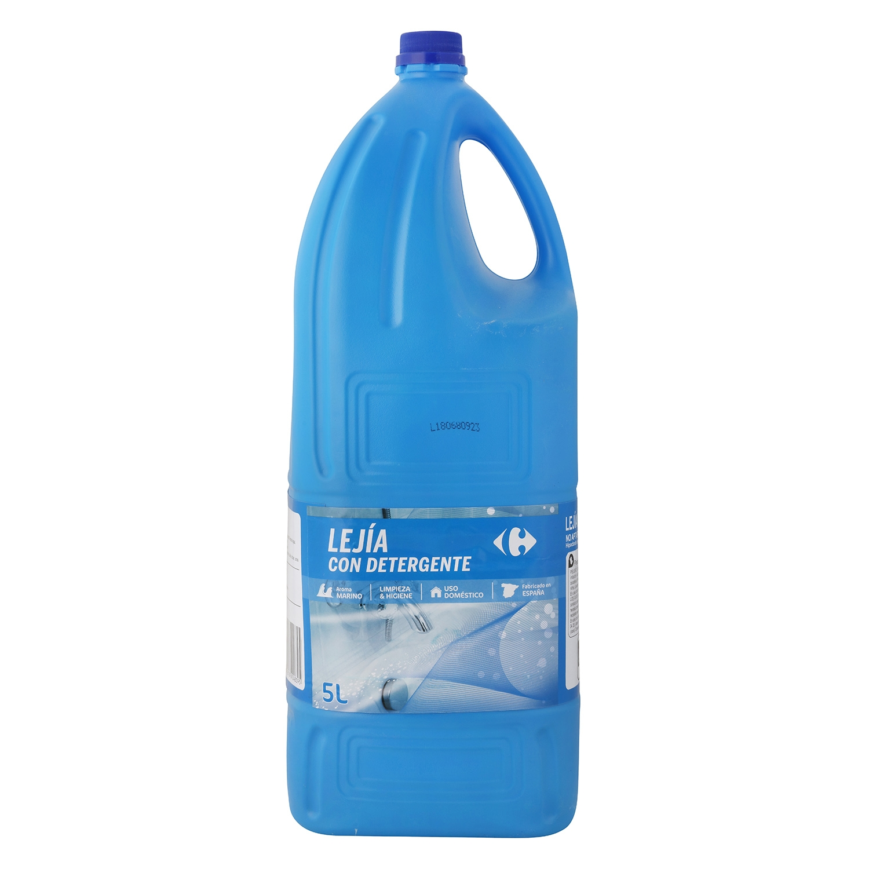 Lejía perfumada con detergente Frescor Marino Carrefour 5 l.