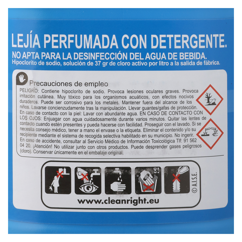 Lejía perfumada con detergente Frescor Marino Carrefour 5 l. - 2