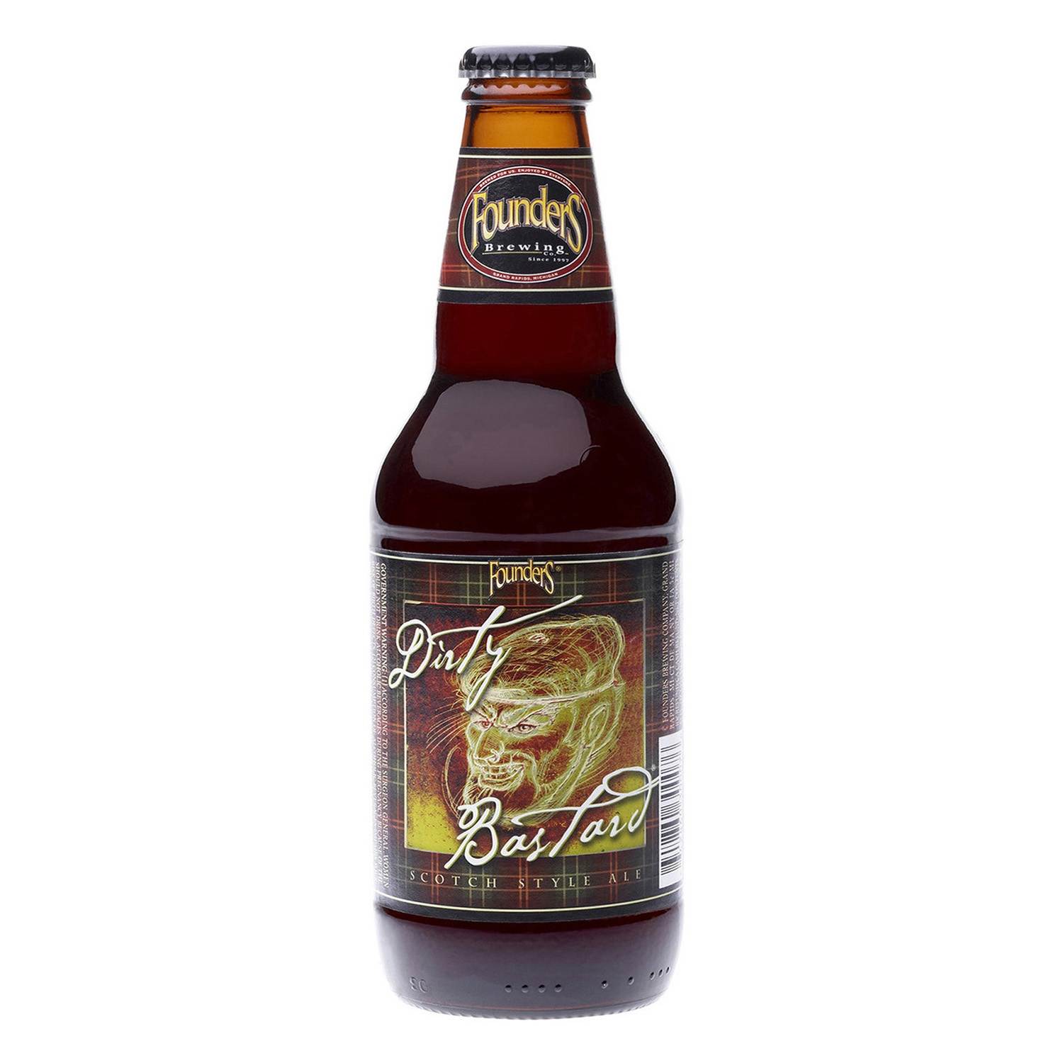 Cerveza artesana Founders Dirty Bastard Scotch Style Ale botella 35,5 cl.