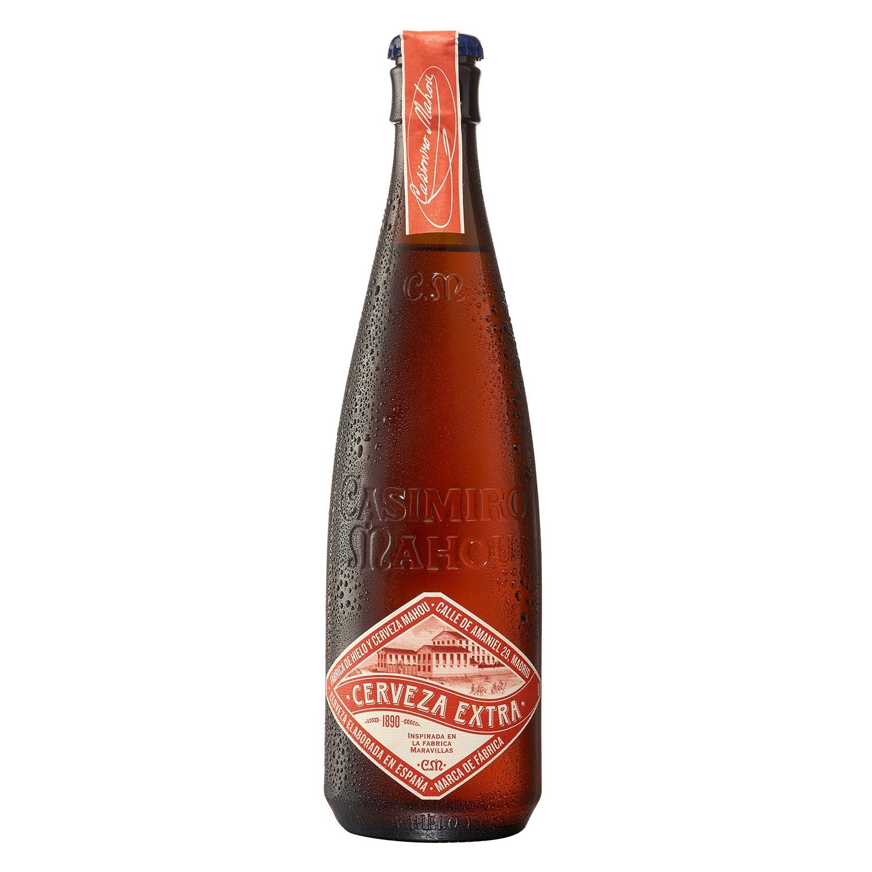 Cerveza artesana Casimiro Mahou Maravillas extra botella 37,5 cl.
