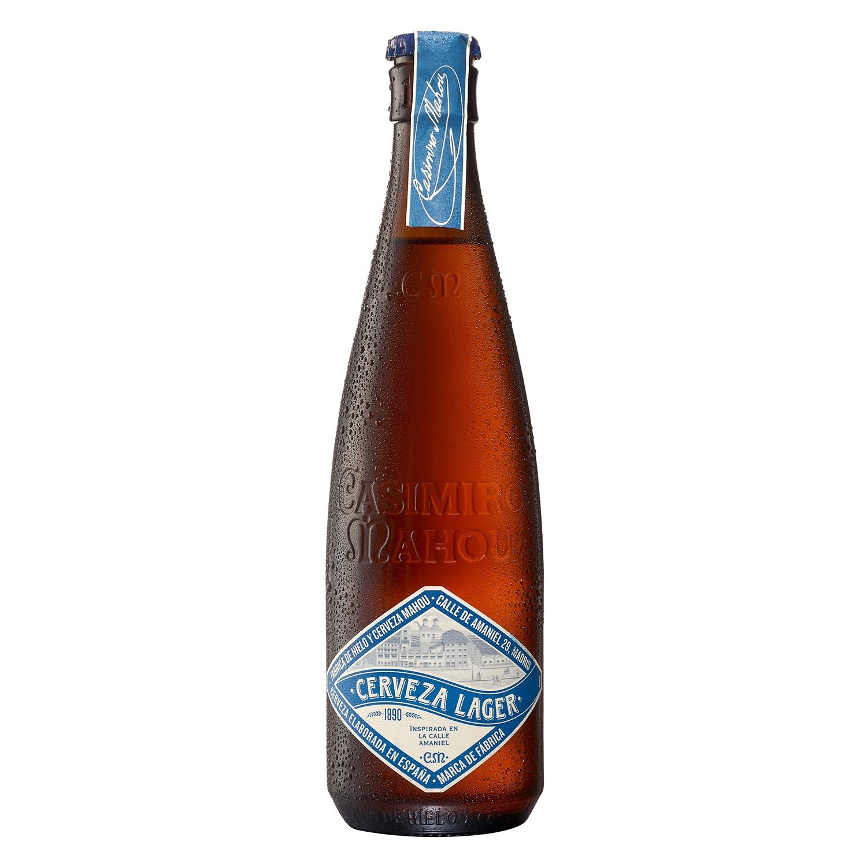 Cerveza artesana Casimiro Mahou Amaniel Lager botella 37,5 cl.