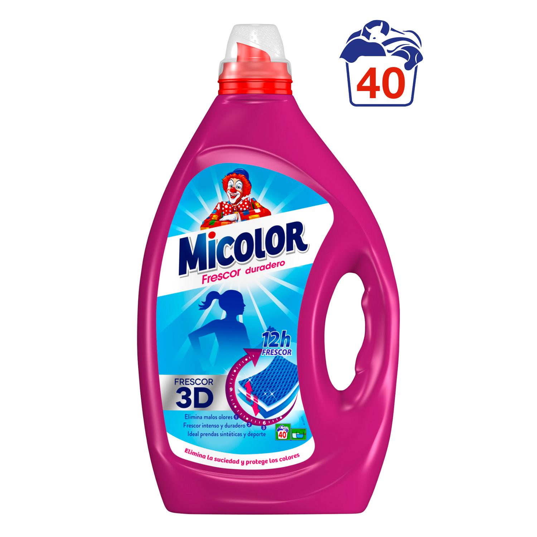 Detergente frescor duradero líquido Micolor 40 lavados.