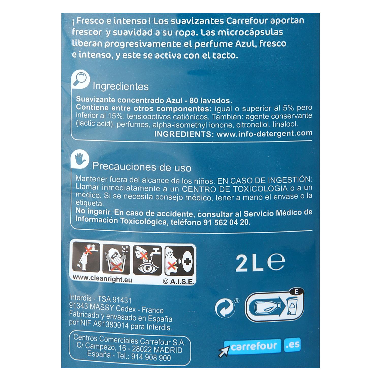 Suavizante concentrado azul Carrefour 80 lavados. - 2