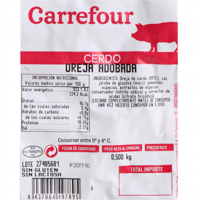 Oreja de Cerdop Adobada al vacío Carrefour 500 g - 3