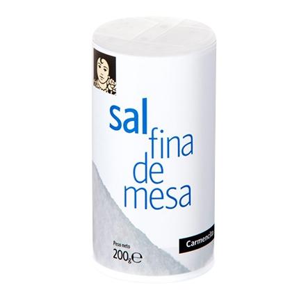 Sal de mesa fina Carmencita 200 g.