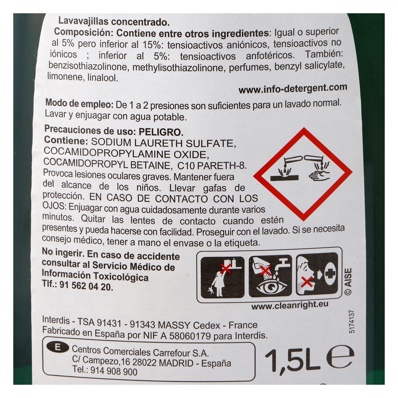 Lavavajillas a mano concentrado ultra Carrefour 1,5 l. - 2