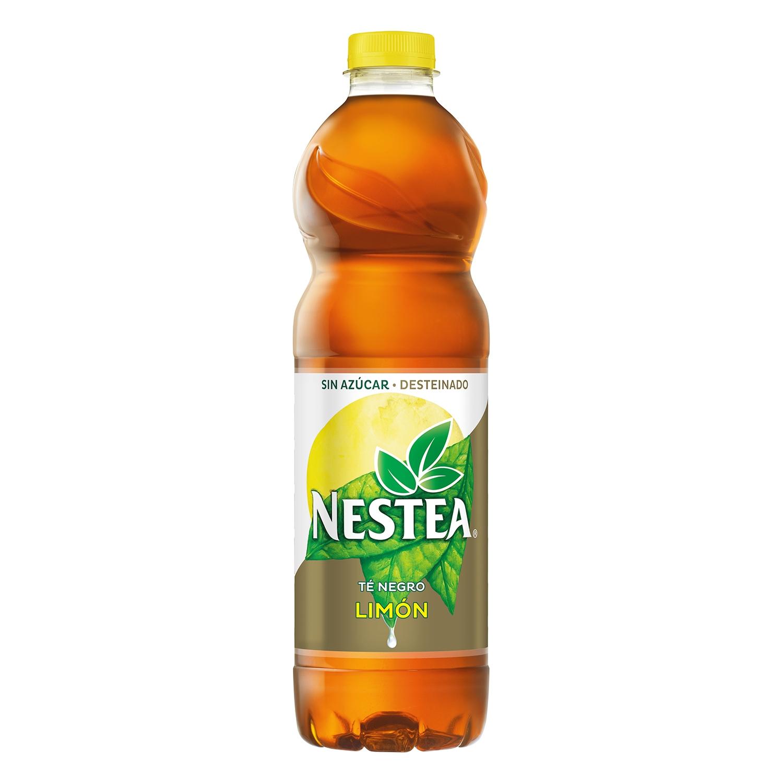 Refresco de té Nestea sin azúcar desteinado sabor limón botella 1,5 l.