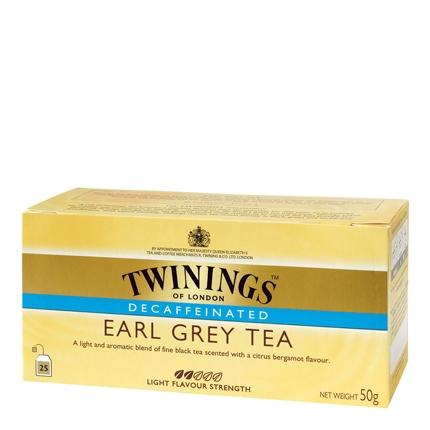 Té Earl Grey descafeinado en bolsitas Twinings 25 ud.