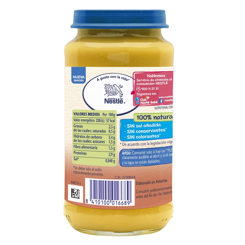 Tarrito de puré de verduras con pollo y ternera Nestlé sin gluten 250 g. - 2