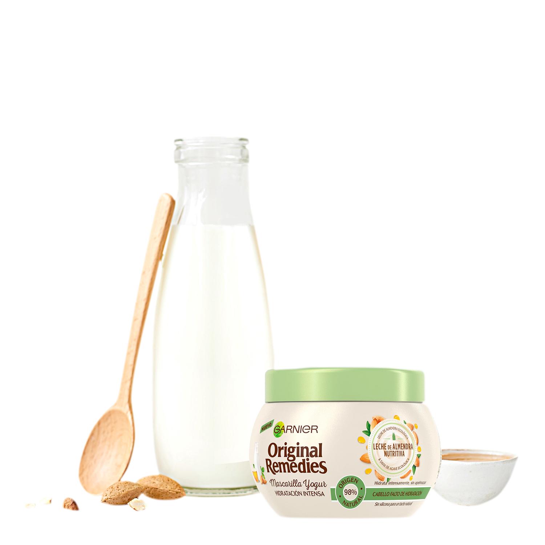 Mascarilla hidratación intensa leche de almendra Garnier 300 ml. - 3
