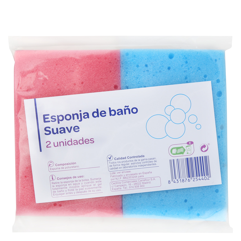 Esponja de ba o suave producto blanco carrefour for Productos de bano