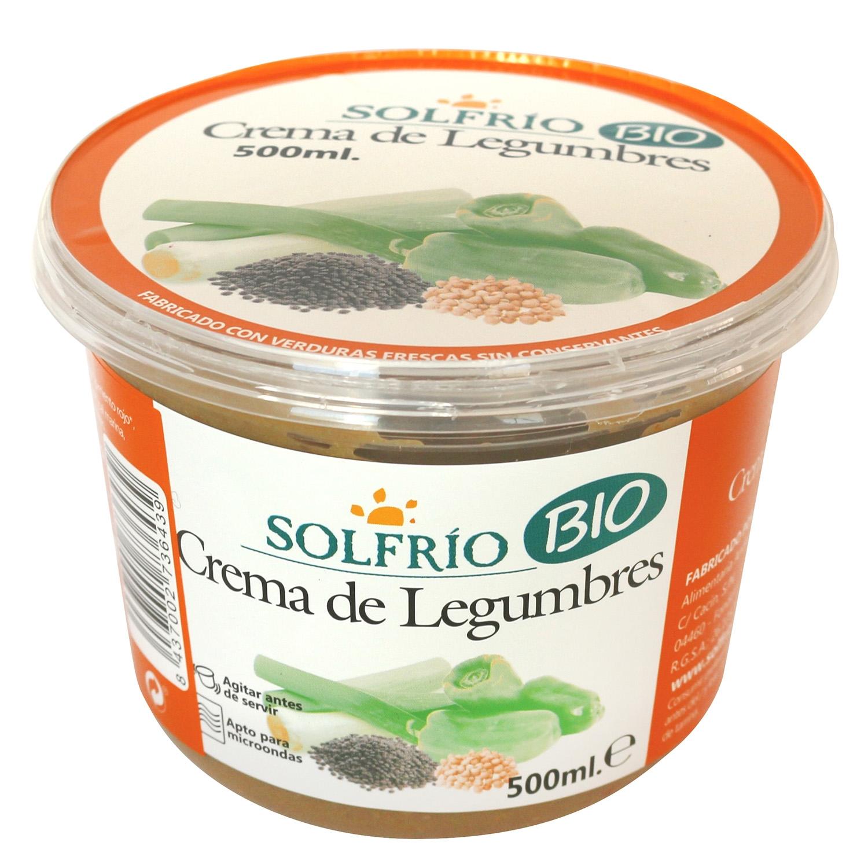 Crema de legumbres ecológica Solfrío 500 ml.