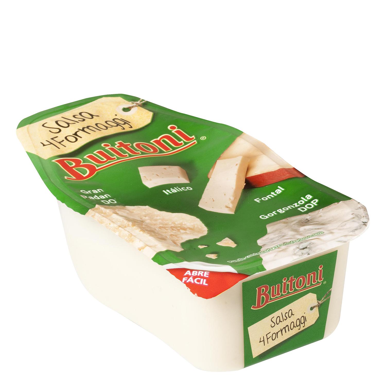 Salsa cuatro quesos Buitoni envase 140 g.