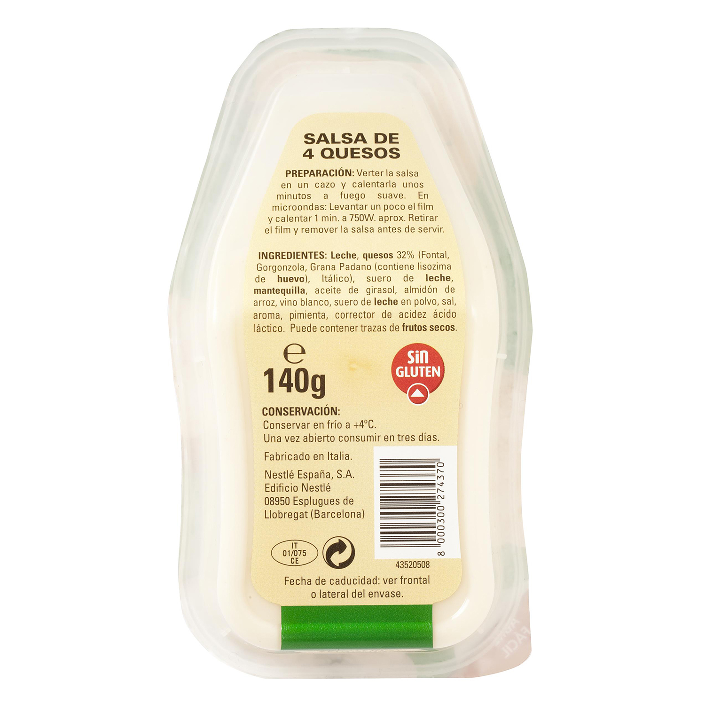 Salsa cuatro quesos Buitoni envase 140 g. -