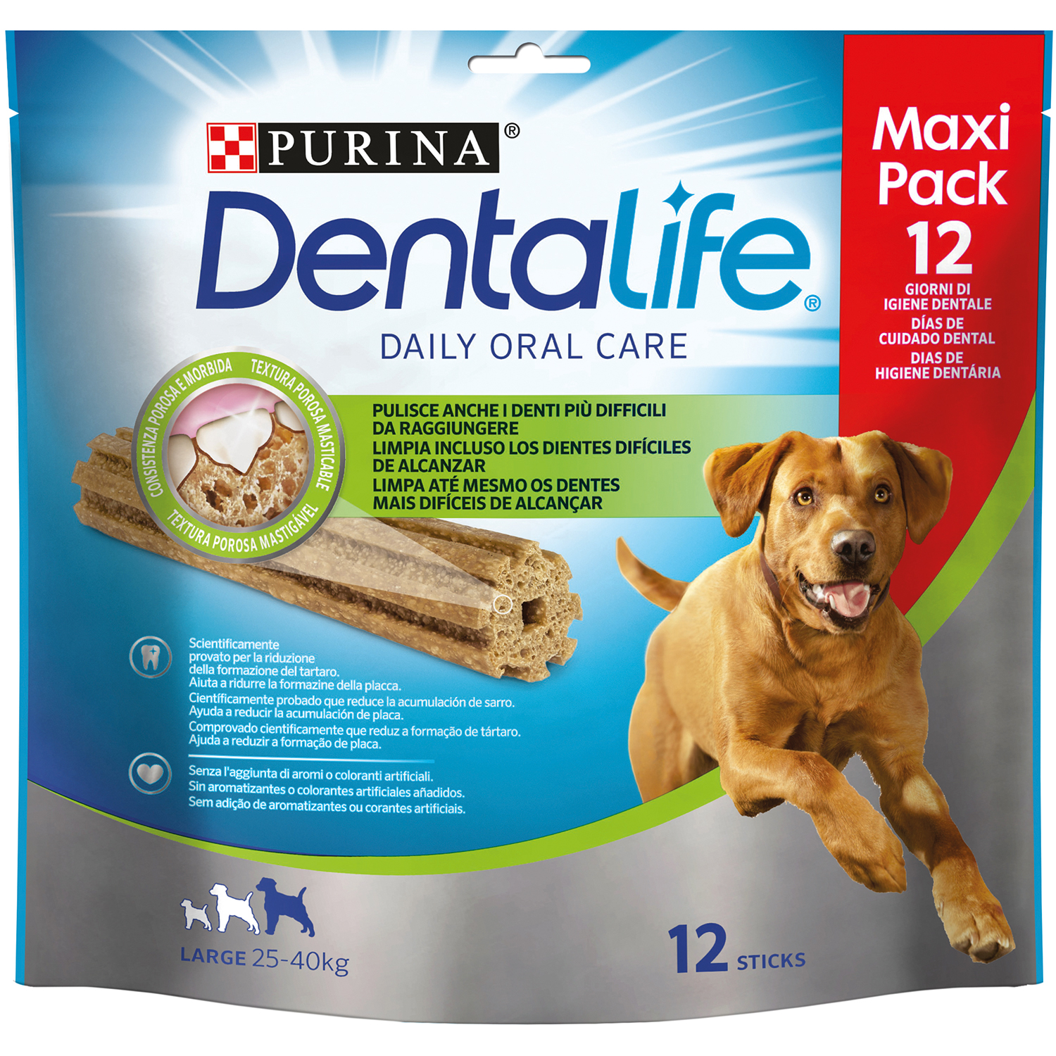 Purina Dentalife Snacks para Perro Grande 426g - 12 Sticks