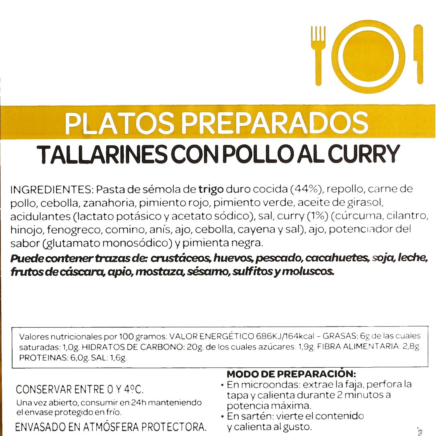 Tallarines con Pollo al curry Ta-Tung 300 g - 3