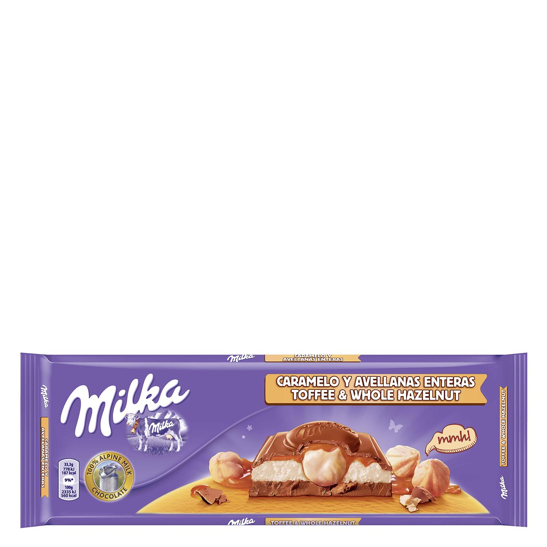 Chocolate con leche, avellanas y caramelo Milka - Carrefour ...