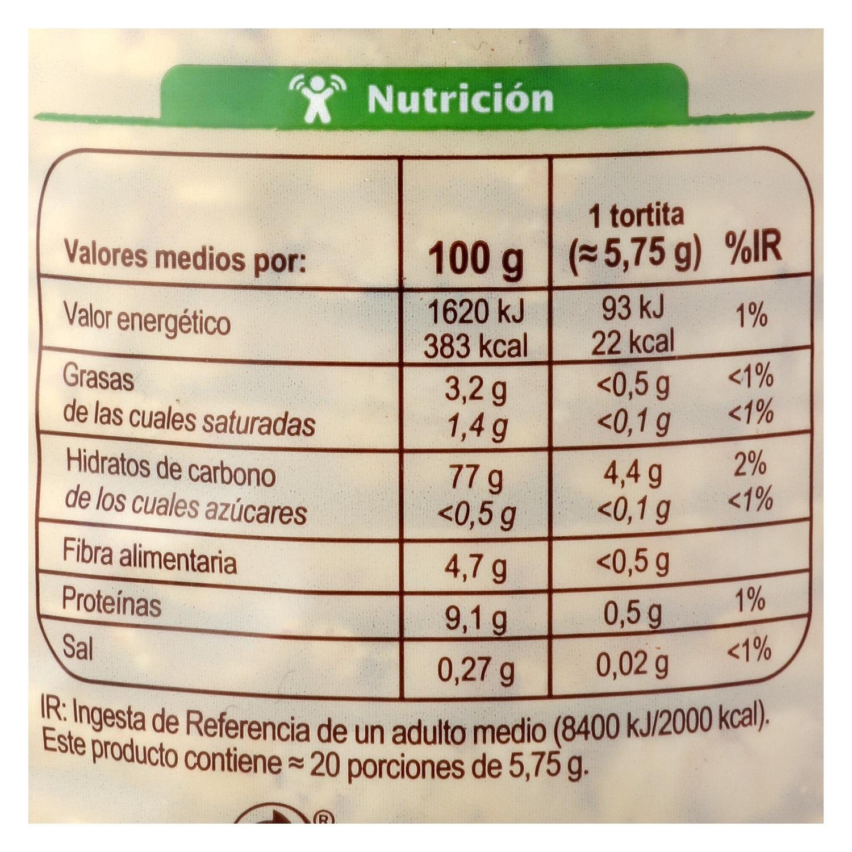 Tortitas de maíz ecológicas Carrefour Bio 115 g. - 2