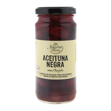 Aceitunas negras De Nuestra Tierra 135 g.