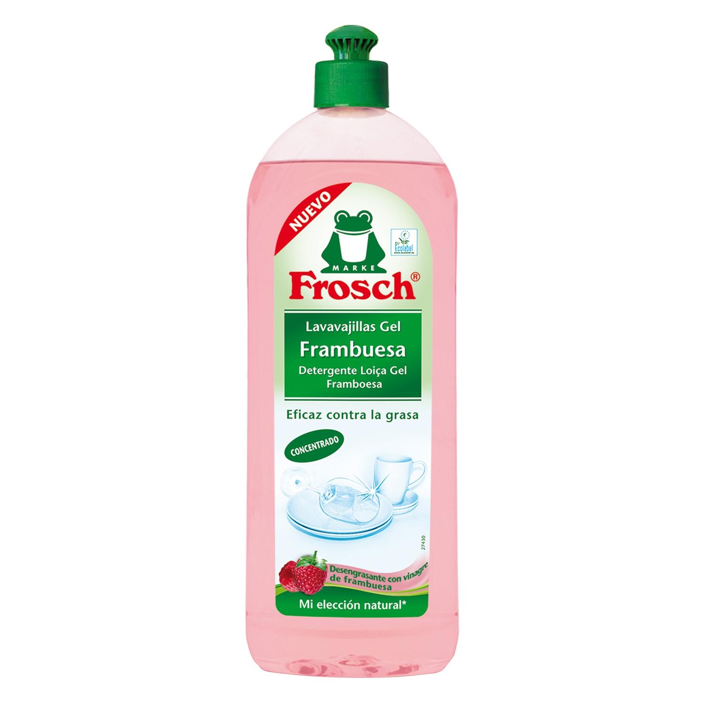 Lavavajillas a mano aroma frambuesa en gel ecológico Frosch 750 ml.