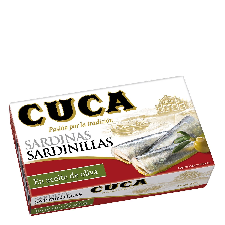 Sardinillas aceite oliva Cuca 63 g.
