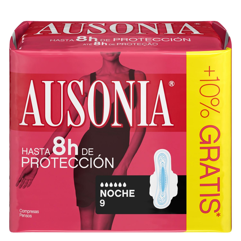 Compresas con alas noche Ausonia 9 ud.