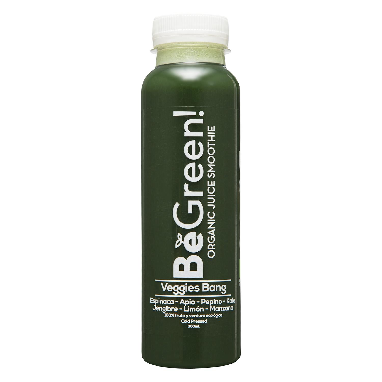 Zumo de frutas y verduras ecológico Be Green botella 30 cl.