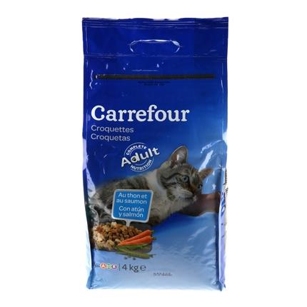 Croquetas para Gato Atún y Salmón 4 Kg, Carrefour