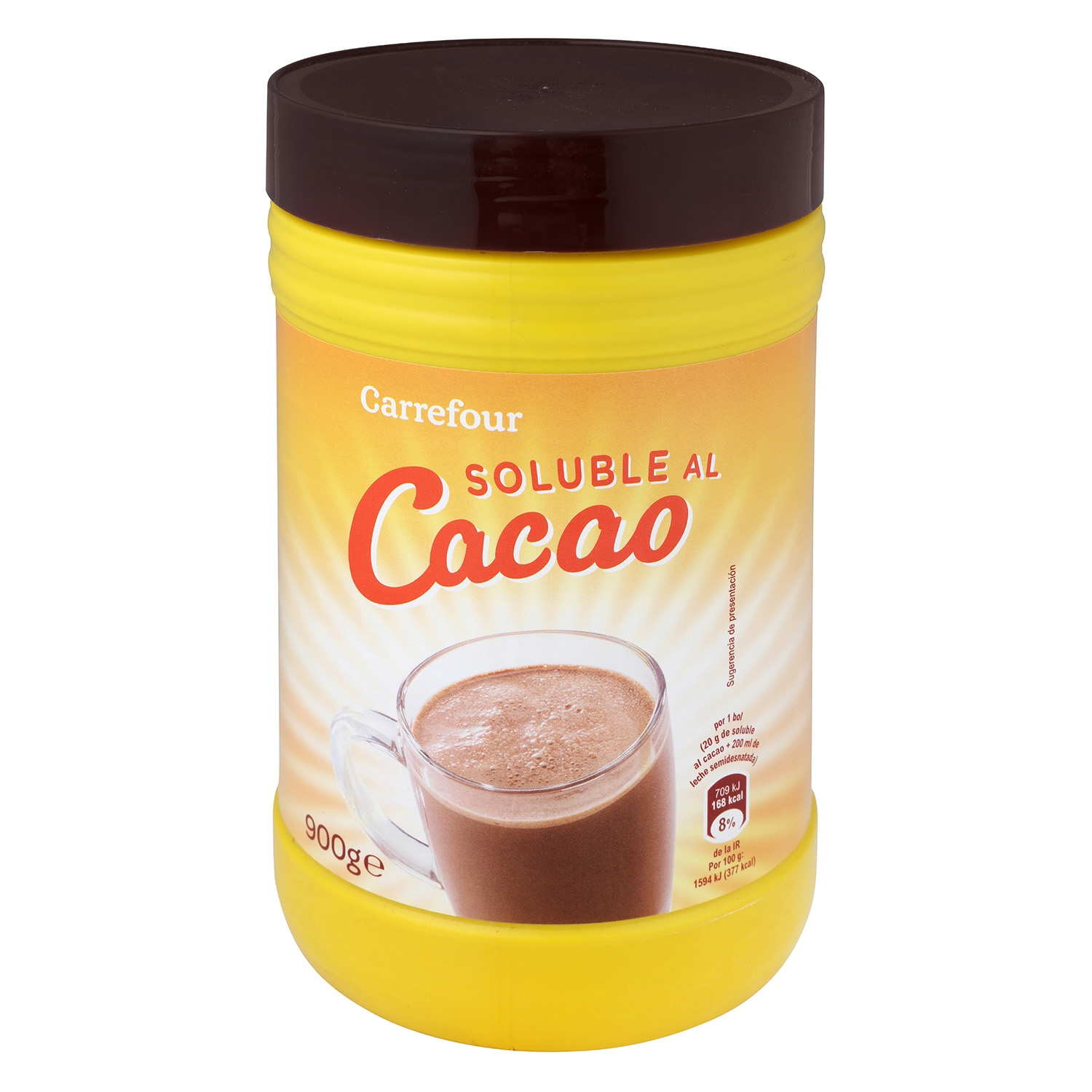 Cacao soluble Carrefour 900 g.
