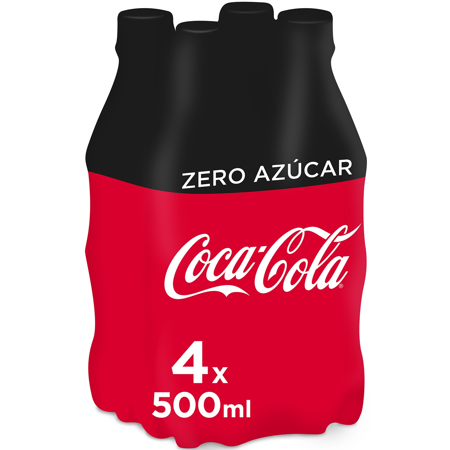 Refresco de cola Coca Cola zero pack de 4 botellas de 2,20 l.
