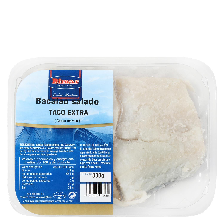 Bacalao salado extra taco, Arte Morhua 300 g  - 2