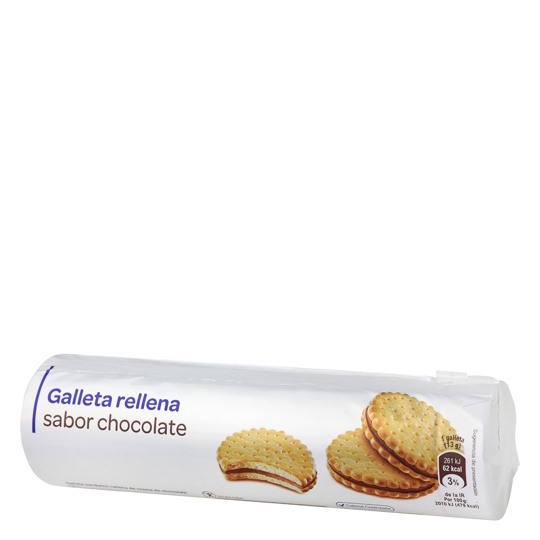 Galleta sandwich rellena de crema de chocolate
