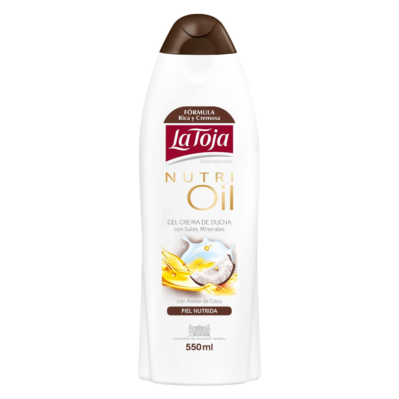 Gel crema de ducha con sales minerales y aceite de coco Nutri oil Piel nutrida La Toja 550 ml.