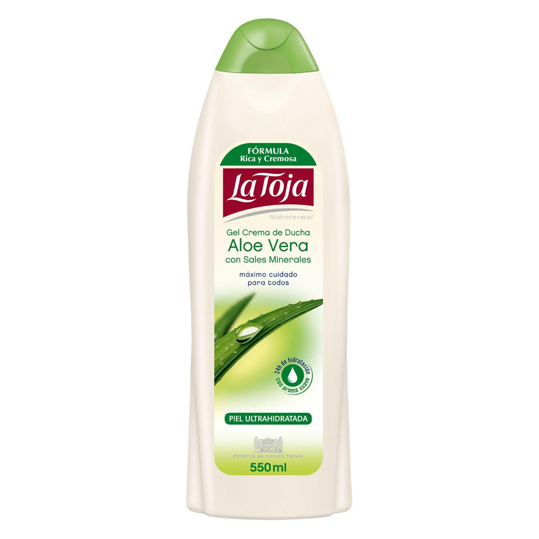 Gel crema de ducha aloe vera con sales minerales piel ultrahidratada La Toja 550 ml.