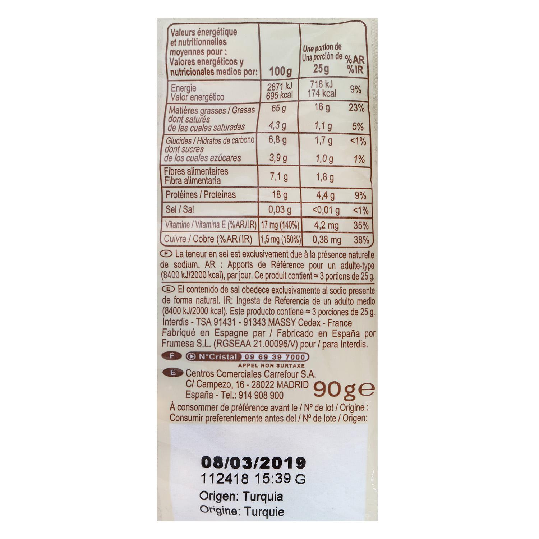Avellanas tostadas sin sal añadida ecológicas Carrefour Bio 90 g. - 2
