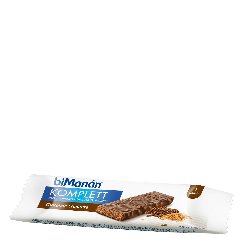 Barritas de chocolate crujiente Komplett Bimanán 1 ud.