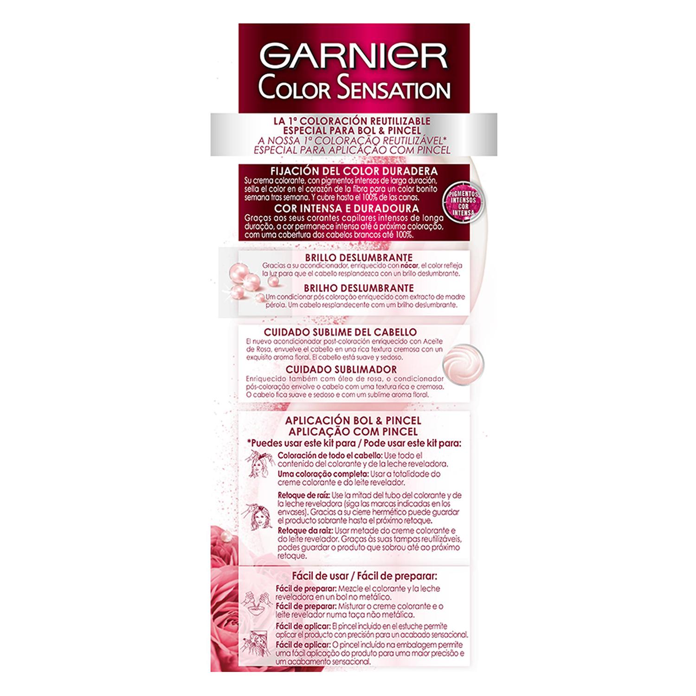 Coloración Permanente nº 4 Castaño Garnier Color Sensation 1 ud. - 2