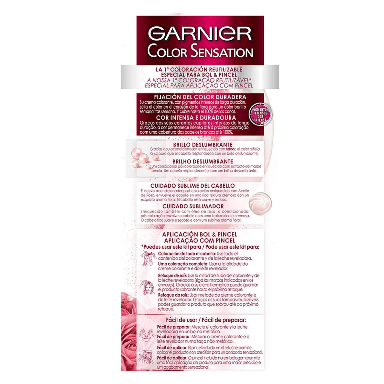 Coloración Permanente nº 8 Rubio Luminoso Garnier Color Sensation 1 ud. - 3