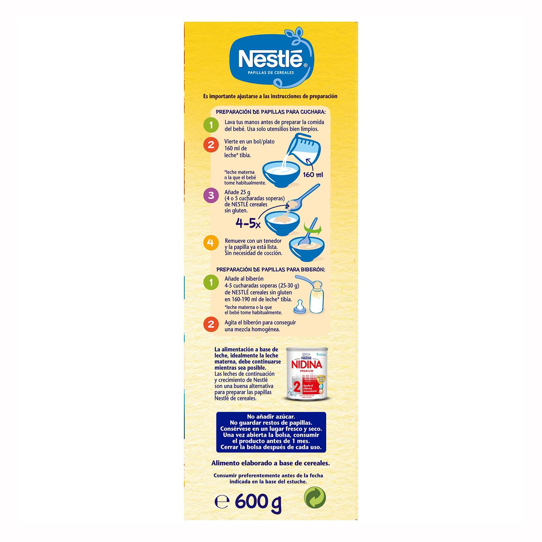 Papilla de cereales  en polvo Nestlé sin gluten 600 g. - 2