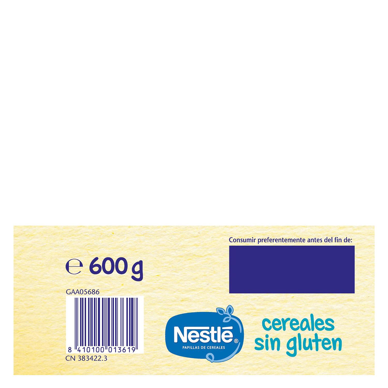 Papilla de cereales  en polvo Nestlé sin gluten 600 g. - 4