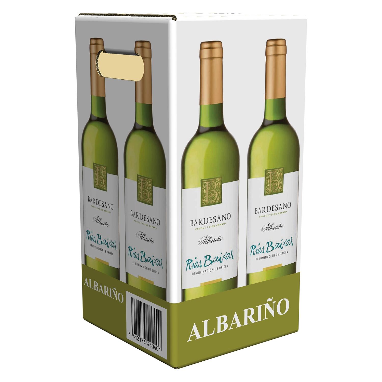 Vino D.O. Rias Baixas blanco albariño Bardesano pack de 4 botellas de 75 cl.