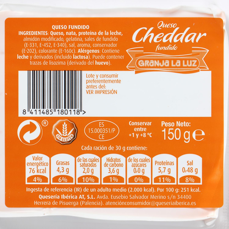 Taco de queso cheddar fundido - 2