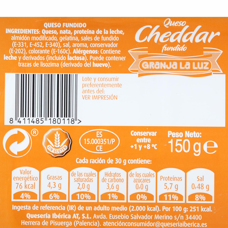 Taco de queso cheddar fundido - 3