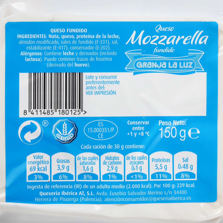 Taco de queso Mozzarella fundido - 2